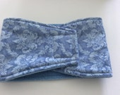 Male Dog Diaper - Belly Band - Soft Muted Blue Damask - Available in all Sizes