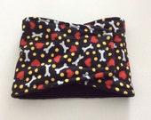 Male Dog Diaper - Belly Band - Absorbent Belly Band - No Pads Needed -Black with Hearts and Bones -  Available in all Sizes