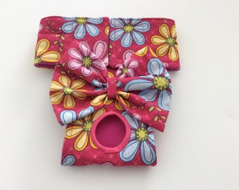 Female Dog Diapers - Panties - Britches - Large Multi Floral - Available in all Sizes