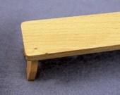 Miniature Bench Hummel Figurine Small Doll Display Dollhouse Furniture