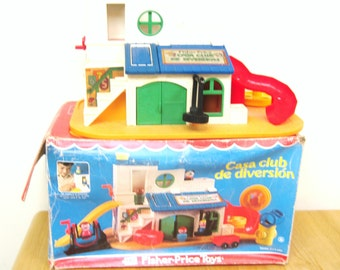 Fisher Price Little People Sesame Street Clubhouse - Rare Mexico Version
