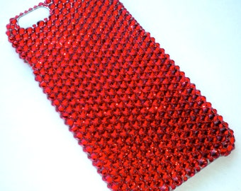 """For iPhone 6 (4.7"""") - Light Siam - Bright Cherry Red - Bedazzled Rhinestone Bling Back Case handmade with 100% Crystals from Swarovski"""