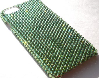For iPhone 4 4S ~ Green Apple Peridot Diamond Rhinestone BLING Back Case bedazzled with 100% Crystals from Swarovski