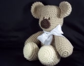 Crocheted Baby's First Plushie : Teddy - Tan