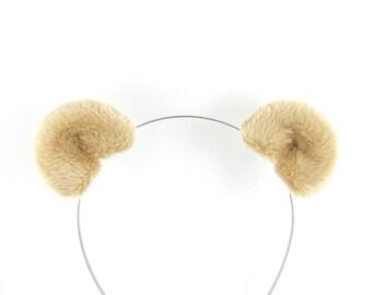 Bear Ears Hair Clips Light Brown Bear Costume Accessory