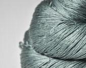 Fading gray lichen - Silk Fingering Yarn