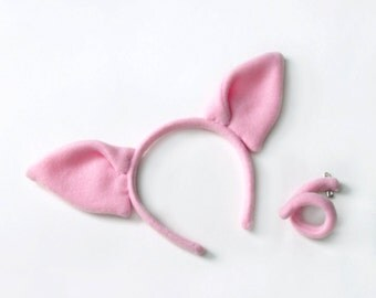 Pig Costume Set, Ears and a Tail