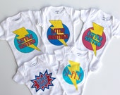 Customized Baby Onesie - Ships Fast - Sizes newborn to 24 months - Photo prop - Baby Superhero Costume - New baby gift - Halloween ready