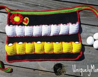 Crochet Pattern, Egg Gathering,Egg Collecting,Instant Download,Collecting Apron,Gathering Apron,Apron DIY