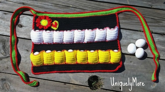 16 Pocket Egg Collecting Apron for Harvesting Chicken Eggs - Crochet ...