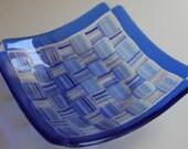 Basketweave Bowl in Blue