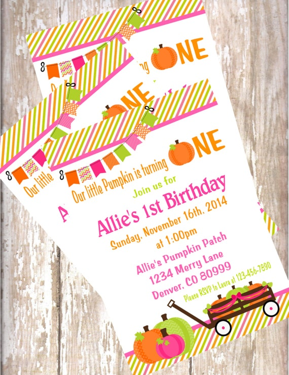 Pumpkin birthday invitations printed with envelopes fall birthday il570xn filmwisefo