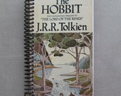 BLANK JOURNAL Made from J R R Tolkien book, The HOBBIT, Lord of the Rings, lined pages, write