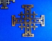 Wood Jerusalem Cross - Medium