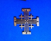 Wood Jerusalem Cross - Small