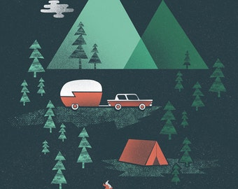 Pitch a Tent Print