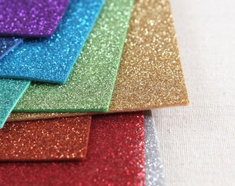 Glitter Felt // Iron-On // DIY Glitter, Sparkle Felt, Sparkly Crafts, Glitter Finish, Felt Tutorials, Turquoise Glitter, Gold Glitter Crafts