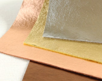 Metallic Felt // Iron-On // Gold Finish, DIY Gold Felt, Gold Fabric, Silver Felt, Copper Transfer, Bronze Fabric, Metallic Craft Supplies