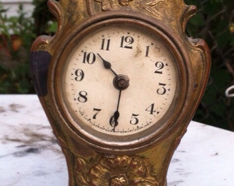 Antique clock small night stand table clock
