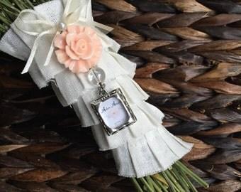 Wedding Bouquet Photo Charm - Light Pink Flower