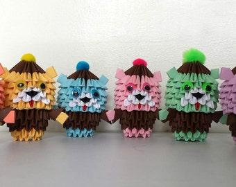 3d origami Teddy Bear