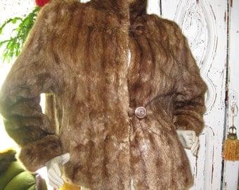 Vintage 1940's Mink Fur Jacket womens size small