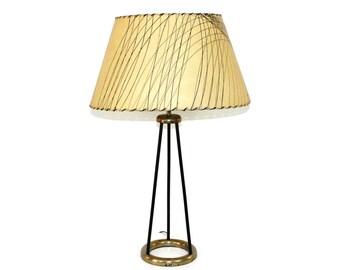 1950s Atomic Tripod Lamp Fiberglass Shade Mid-Century Modern