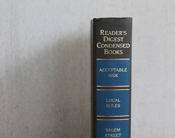 Vintage Reader's Digest Condensed Books // Volume 4 1995 // Grey & Blue