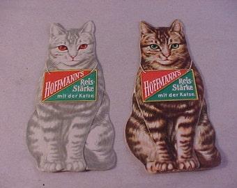 Vintage German Rice Starch Advertising Cat Easel