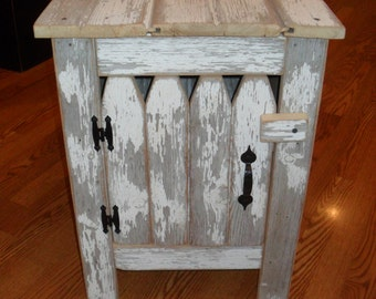 White Picket Fence Cabinet