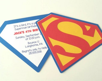 Superman Party Invitation - Pack of 10