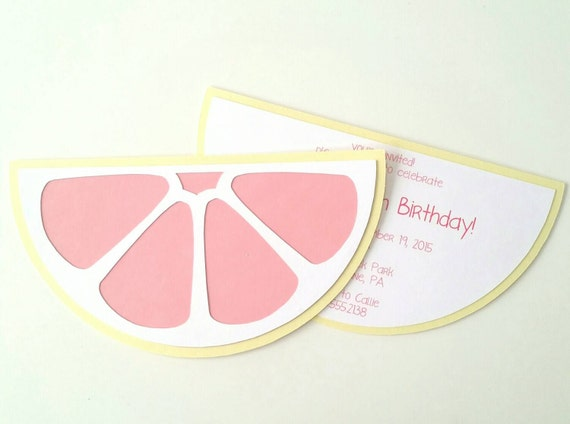 Pink Lemonade Invitation - Pack of 10