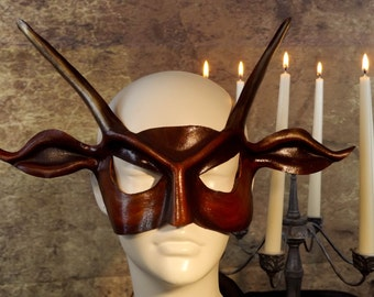 Red Devil Leather Mask