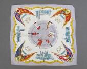 Vintage Royal Coronation Handkerchief, English 1953 - Queen Elizabeth - Royal Memorabilia
