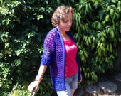 Crochet pattern Mesh Cardigan for Ladies