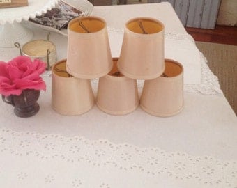 Vintage Chandelier Shades * Shabby Chic Mini Lamp Shades * Set of 5 Cottage Style On Sale at Retro Daisy Girl