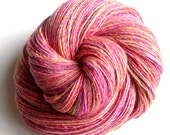 Garden Party - Merino wool - single thread handspun shawl yarn 122gr 490m