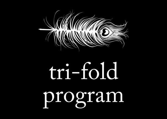 Peacock Printing Digital File - Tri-fold or Booklet Program Template