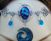 Mermaids Circlet of the Ocean Treasure elven priestess celtic druid bridal
