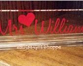 TEACHER'S APPRECIATION GIFT - Teachers Name Plate  - Desk Name Plate - Acrylic Name Desk Plate - Christmas Gift- Acrylic Name Plate