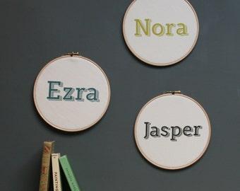 Personalised Name Hoop