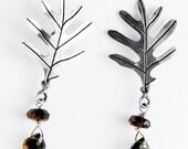 Oak Leaf Sterling Silver Earrings