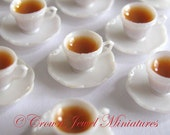 1:12 Simple Cup of Coffee in Cup & Saucer by IGMA Artisan Robin Brady-Boxwell - Crown Jewel Miniatures
