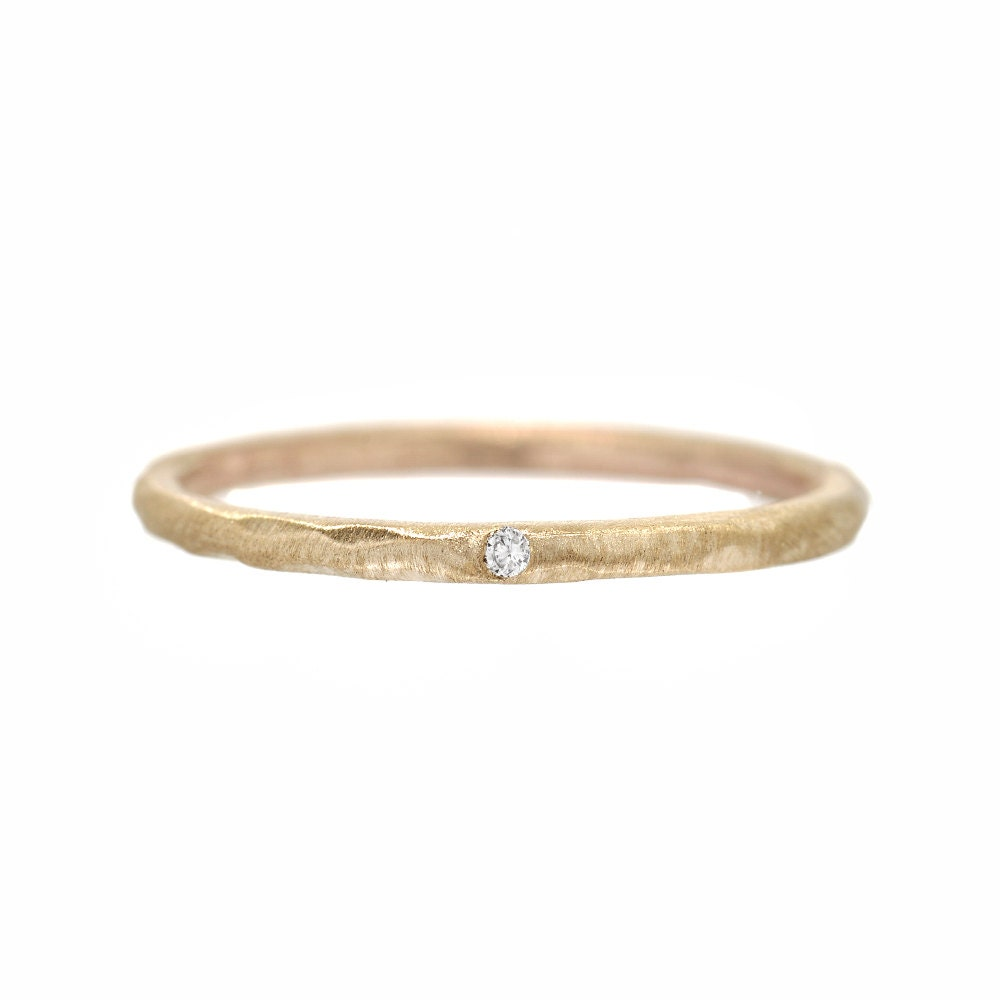 Tiny diamond ring delicate engagement ring stacking rings for Tiny wedding ring