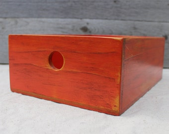 Desktop Storage Box in Deep Orange