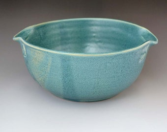 Antique Blue Wheel Thrown Casserole, Bowl, Baking, Cookware