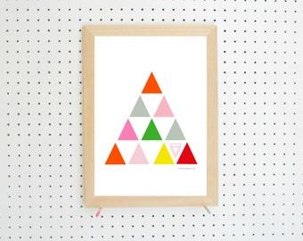 Digital Download Triangles Geometric Printable A4