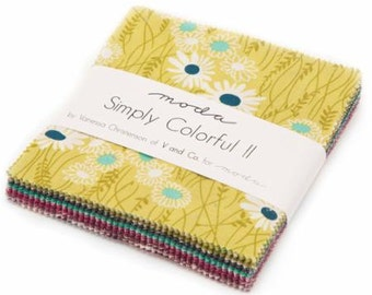 Simply Colorful II Charm Pack by V and Co for Moda Fabrics