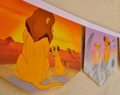 LION KING  Little Golden Book Bunting Banner Paper Children Repurposed Decoration eco friendly gift birthday party