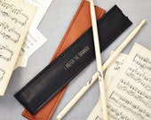 Black Leather Drumstick Holder